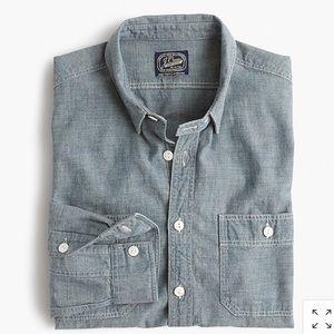 Selvedge Japanese Chambray Utility Shirt